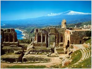 El Teatro greco de taormina