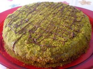 tarta de pistacho y nutela