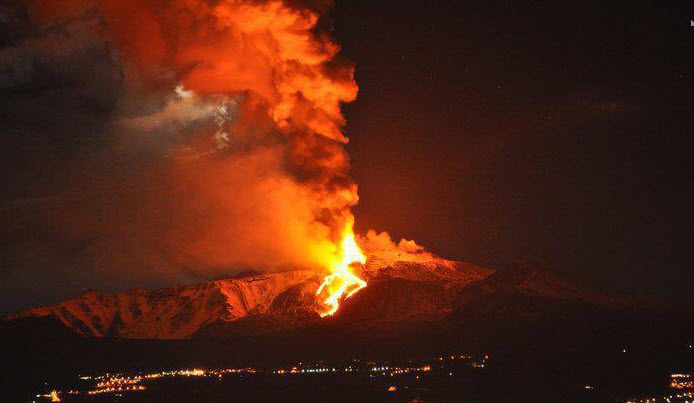 etna en erupcion