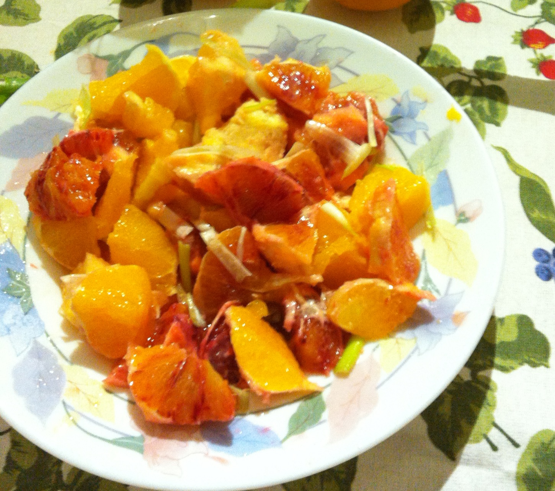 ensalada de naranjas de sicilia