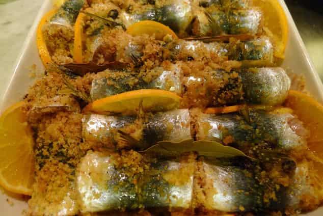 sarde beccafico comida catania
